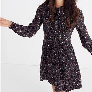 Balsam Tie-Neck Dress in Starry Night